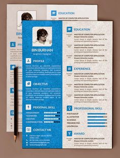 Free Resume PSD Template With Cover Latter