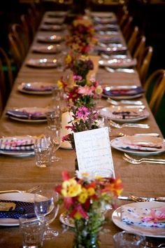 I really like this table look generally. Will have mostly yellow napkins, of course. ;) Photo by PGB Photography.
