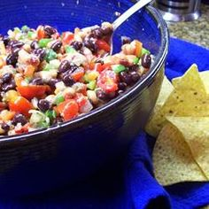 Cowboy Caviar healthy tailgating dip and appetizer recipe.  So yummy and so healthy!