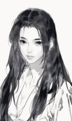 Pin on Paint / illustration Anime Art Girl, Manga Art, Manga Drawing, Drawn Art, Digital Painting Tutorials, Art Reference Poses, Pretty Art, Aesthetic Art, Asian Art