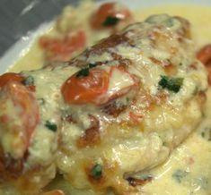 Hähnchen in Mozzarella - Basilikum - Sahnesauce von HotTomBBQ auf www.rezeptwelt.de, der Thermomix ® Community
