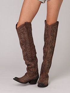 Over the knee cowboy boots.