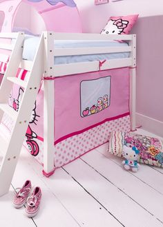 Hello Kitty Cabin Bed Tent | £39.99 | #CabinBed #KidsBed #HomeDecor & Diggers Cabin Bed Tent and Tunnel | £59.99 | Noa and Nani ...