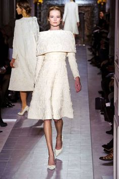 Valentino Spring 2013 Couture Runway - Valentino Haute Couture Collection - ELLE {This would make a fantastic winter elopement dress.}