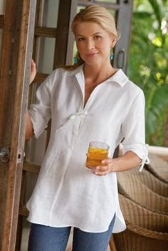 2609924f74c3b Linen Newport Top from Soft Surroundings - another easy breezy top that I  just love-