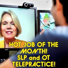 Hot Job (Actually Jobs!) of the Month! SLPs and OTs Needed for Telepractice! - pinned by @PediaStaff – Please Visit  ht.ly/63sNt for all our pediatric therapy pins