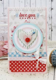 Love You Forever...Card by lilybeanpaperie on Etsy