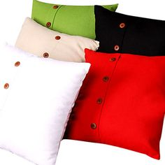 Linen Solid Color Cushion Cover (Buttom Decoration) - USD $ 14.99