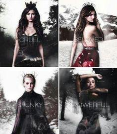 Katherine-> The Cruel One Elena-> Beloved By So Many Caroline-> 'Spunky' But Selfless Bonnie-> The Most Powerful Of Them All