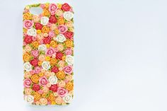 iPhone 5 case, handmade phone case, gift wrapping - flowers for her, floral case on Etsy, $100.00