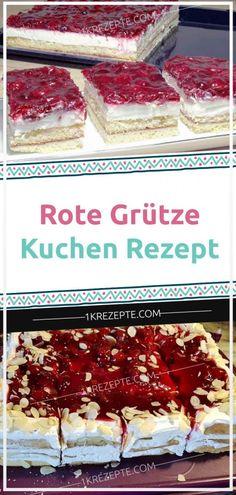 Rote Grütze Kuchen Rezept - 1k Rezepte Spatzle, Bratwurst, Food Cakes, Chocolate Cake, Cake Recipes, Cereal, Deserts, Buffet, Eat