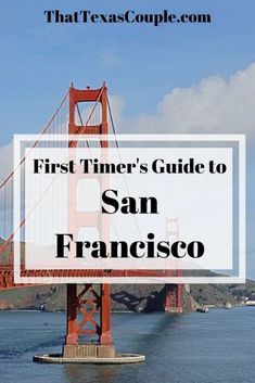Planning your first trip to San Francisco? Then you should read this post. We have outlined so many things to do during your time in San Francisco. You're going to love our suggestions on what to eat and do and where to stay. San Francisco With Kids, San Francisco Tours, San Francisco Travel, Usa Travel Guide, Travel Usa, Travel Tips, Visit California, California Travel, San Diego Travel