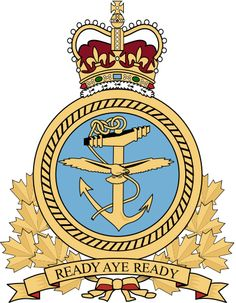 Badge of the Royal Canadian Navy Military Insignia, Military Police, Military Art, Canadian Soldiers, Canadian Army, Royal Canadian Navy, Royal Navy, Badges, Flag Display Case