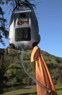 The Summer Shower is an easy-to-use, portable shower bag ideal for camping.