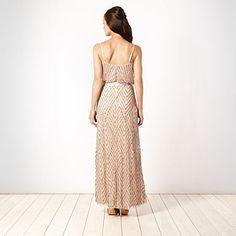 `Peach diagonal sequinned maxi dress - Day dresses - Dresses - Women -