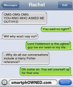 Harry Potter @Rachel Kershner I see your name at the top and i 100% believe you were involved in this conversation