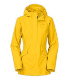 Women's The North Face Kindling Rain Jacket Medium Yellow * Details can be found by clicking on the image.