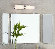 Vintage Tri-Fold Mirror - pottery barn - online only - 449