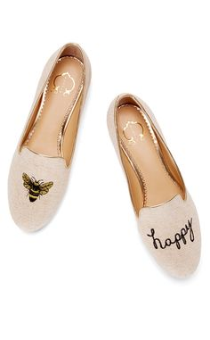 C. Wonder Bee Happy Smoking Slipper(flats) from Editor Obsessions: 5 Things We Love | E! Online