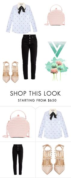 """""""My korean's style for the week-end"""" by debmuzamba ❤ liked on Polyvore featuring Nancy Gonzalez, Gucci, Balenciaga and Valentino"""