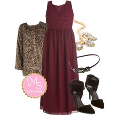 In this outfit: Elegance Again Dress, Prowl Factor Jacket, Dare to Bedazzle Necklace, Glitz for the Best Headband, Top-Notch Taste Heel #holiday #holidaydress #dresses #elegant #party #maxidress #sheer #lace #burgundy #outfits #fashion #NewYearsEve #cocktail