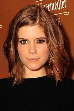 While a style like Kate Mara's suits most faces, those with rounder face shapes should opt to go longer or shorter instead.