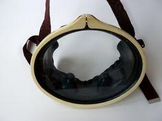 #Vintage Child's Swimmer #Dive #Mask, Dive Mask, Old Swim Mask. Black Diving…