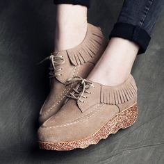 Find More Women's Flats Information about  2015 Women Loafers Shoes Woman Genuine Leather Shoes Flats Moccasins Woman Suede Casual Shoes ,High Quality shoes evening,China shoe store display racks Suppliers, Cheap tassel cord from ivan style on Aliexpress.com
