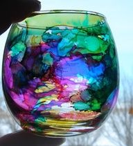 alcohol ink stained glass