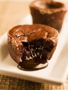 Dark Chocolate Molten Little Cakes  #chocolate  #cakes,  #chocolatecake
