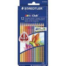 Staedtler Noris Club 12 darabos háromszög alakú színes ceruza készlet ABS védelemmel - Színes ceruzák - 1,299Ft