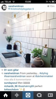 From yesterday. soon at - Chintomby Widman- Swedish Kitchen, Wet Rooms, Kitchen Dining, Dining Room, Future House, Home Kitchens, Sweet Home, New Homes, Interior Design
