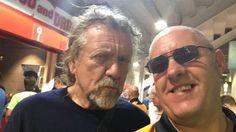 Robert Plant at the Wolves football match on August 6, 2016 (photo: Robert Baker)