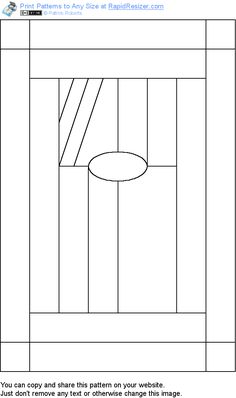 Free Bevel Panel pattern. Get it and more free designs at http://Online.RapidResizer.com/guildpatterns.php