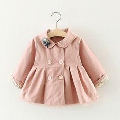 New Spring Children Cartoon Embroidered Hooded Jackets For Boy Girls Outwear Clothes Kids Long Sleeve Windbreaker Baby Girl Dress Design, Baby Girl Dresses, Baby Outfits Newborn, Baby Girl Newborn, Baby Girls, Toddler Girl, Fall Baby Clothes, Baby Girl Jackets, Hipster