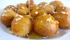 These traditional sweet Greek honey puffs are one of my favourite desserts. So I was excited to prepare this dairy free Lenten alternative, which is just as delicious as the traditional Greek honey puffs! Greek Desserts, Greek Recipes, Greek Sweets, Turkish Recipes, Ethnic Recipes, Greek Donuts, Honey Puffs, Puff Recipe, Greek Dishes