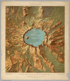 Panoramic View of the Crater Lake National Park.; USGS (U.S. Geological Survey); Renshaw, John H.; 1915; Separate Map