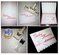 DIY Baby Shower Invitations for my Little October 2015 Baby Rachel. I loved making these with paper crafts.
