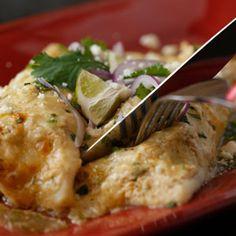 Lisa Kelsey's Honey-Lime Chicken Enchiladas with Salsa Verde Recipe
