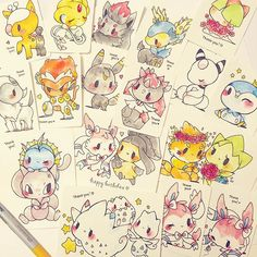 will send out friday along with all button orders. still trying to get preorder stickers, thanks for being patient Cute Kawaii Animals, Pokemon Special, Cute Kawaii Drawings, Cute Chibi, Cute Pokemon, Beautiful Drawings, Pictures To Draw, Cute Illustration, Anime Comics