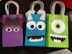 Monster Inc Favor Bags DIY | ideas | Pinterest