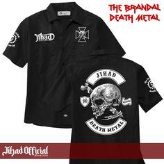 Official : Jihad Death Metal (Merch 2016) Workshirt : The Brandal Death Metal (Patch Bordir) Size : M - L - XL - XXL (Import) Price : Rp. 245.000,- (Exclude Shipping) Order : 085222090666 / 085723321707 Pin : 2A1DF4D1 / 54C5312B Instagram : https://www.instagram.com/jihadeathmetal/