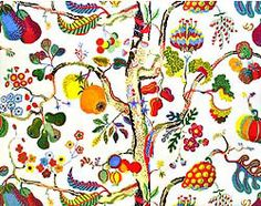 Josef Frank textile. Always loved this Tree of Life design. Used to have a yard stretched like a canvas on the shop wall.