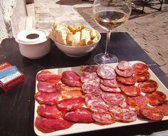 Spain's treasured Iberico ham with a crisp albarino~ perfect....Granada, Spain 2011