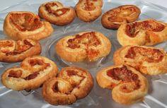 puff pastry, proscuitto, gruyere.  Yum.