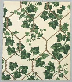 Vintage block printed wallpaper. cooperhewitt.org