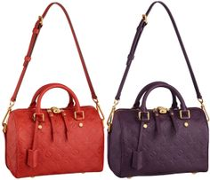 OMG, I haven't seen anything recently from LV that I love but this new line for the Speedy is insane! I love the colors. Now I need about $2.5K. =)    http://www.ilvoelv.com/wp-content/uploads/2012/09/Louis-Vuitton-Monogram-Empreinte-Speedy-25-Bandouliere-Orient-Aube.jpg