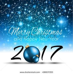 2017 Happy New Year Background for your Seasonal Flyers and Greetings Card or Christmas themed invitations.