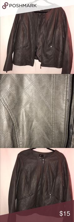 971cf42c16a1f Faux leather jacket from Lane Bryant Faux leather jacket from Lane Bryant