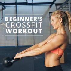 Beginner's CrossFit Workout - a great way to test the waters of CrossFit! Try this: go to any CrossFit gym in America and locate the smiling blonde during a WOD. Fitness Goals, Fitness Tips, Fitness Motivation, Health Fitness, Rogue Fitness, Planet Fitness, Fitness Challenges, Fitness Workouts, Cardio